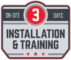 On-site 3-Day Installation & Training
