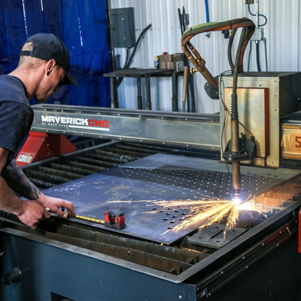 Metal Fabrication plasma cut holes