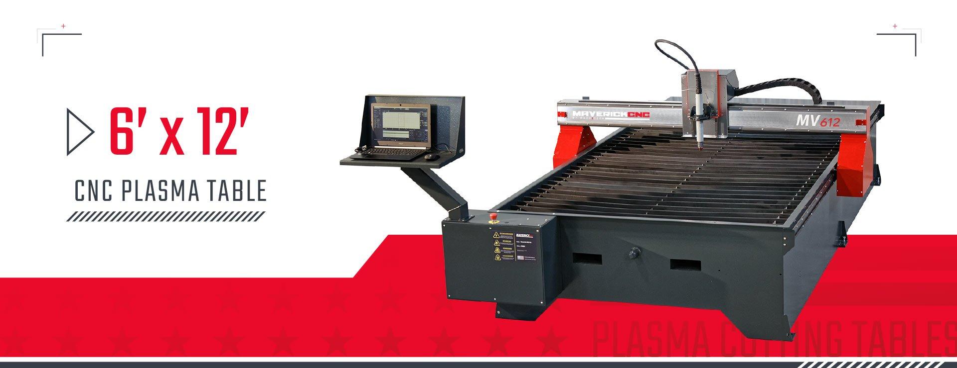 MV612 6x12 Plasma Cutting Table