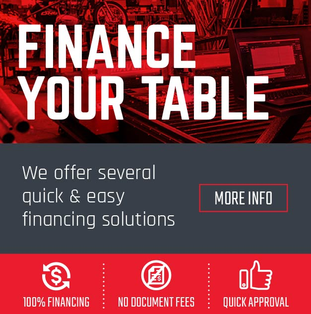Finance your cutting table